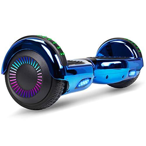 VEVEpower Overboard Hover Board gyropode 6.5 Pouces, Smart Gyropodes Scooter Électrique LED Moteur 300W*2 Auto-équilibrage pour Enfants et Adultes, New