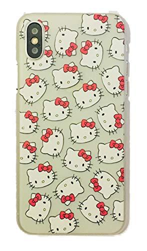 Phone Kandy® Clear/Transparent klar/durchsichtig Hard case for iPhone Cartoon Hülle Abdeckung Haut tascen (HMNI01) (iPhone XS Max, Hello Kitty)