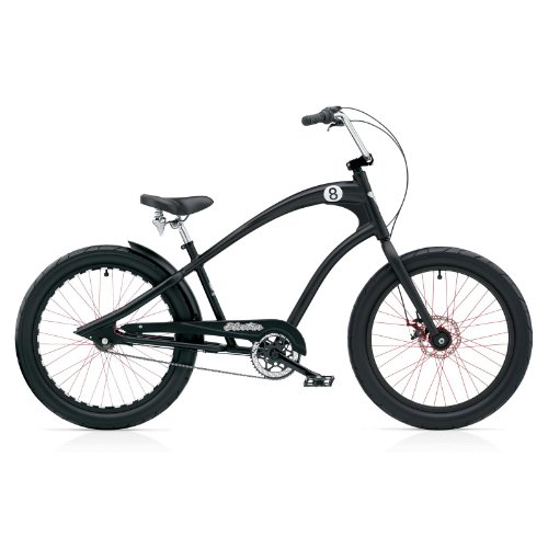Electra Straight8 8i Disc Black Satin Chopper