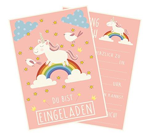 rten für Deine Geburtstags-Party im Einhorn Style, Regenbogen und Wolken, Ideal für Mädchen ()