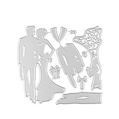 Idea Regalo - Pergamena Rate DIY praege fustelle strumento forma sposa sposo matrimonio forma acciaio al carbonio per coppia foto album