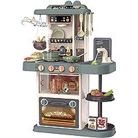 TOPQSC Jeu de cuisine pour enfants en plastique ABS avec accessoires de jouets, Cuisine Dinette Enfant Jouet pour la…