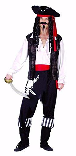 Erwachsene Stiefelstulpen Piraten (YOU LOOK UGLY TODAY Karneval Halloween Piraten Kostüme Costumes für Herren Erwachsene - M/L -)