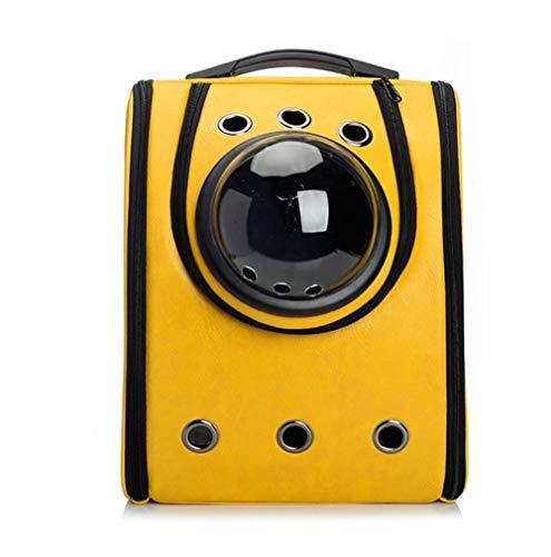 Faltbarer Rucksack Haustierrucksack Space Capsule Pet Bag Out Tragetasche Katze Atmungsaktiv (Farbe : Gelb)