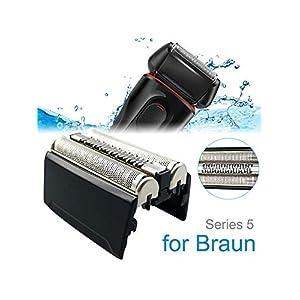 Für Braun Elektrorasiererkopf Zubehör 52B 52S Kompatibel mit Rasierern Der Serie 5 Braun 5020S 5030S 5040S 5050S 5070S 5090CC