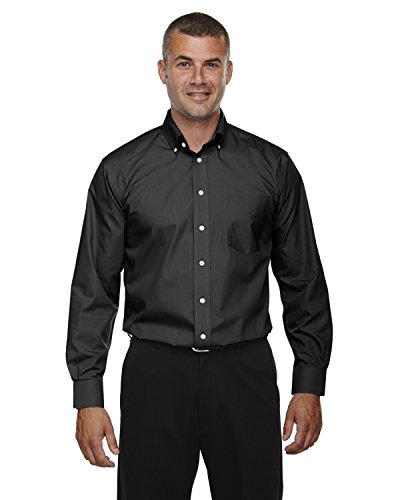 Men's Tall Crown Collection� Solid Broadcloth BLACK XLT -