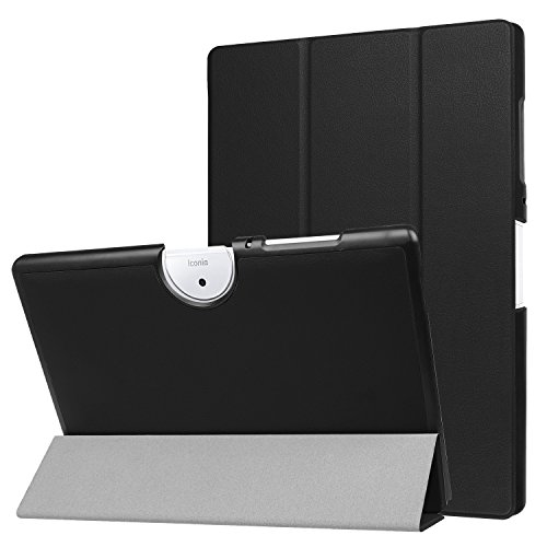 cover tablet acer iconia one 10 Acer Iconia One 10 B3-A40 Custodia -Bloomy Shop Smart Shell Cover Slim in Pelle PU Ultra Sottile per Acer Iconia One 10 B3-A40 Tablet da 10.1 Pollici (black)