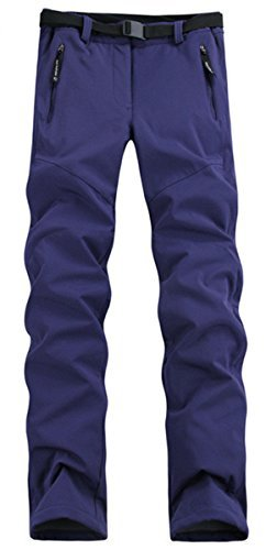 lanbaosi-womens-outdoor-waterproof-softshell-pants-fleece-hiking-ski-trousers-purple