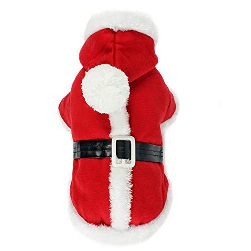 MKHDD Weihnachten Haustier Hund Kostüm Santa Kleidung Hund Warme Hoodie Overall Kleidung Für Hund Haustier Kleidung Chihuahua Yorkshire Pudel