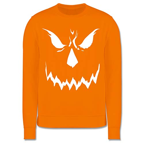 Shirtracer Anlässe Kinder - Scary Smile Halloween Kostüm - 5-6 Jahre (116) - Orange - JH030K - Kinder Pullover