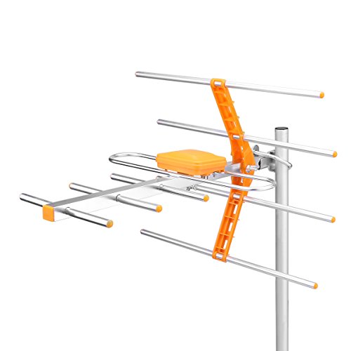 Winbang Outdoor-TV-Antenne, Outdoor-Antenne HDTV-Antenne mit hohem Gewinn Digital Amplified Outdoor Attic Roof HDTV Wirth 21-69 UHF-Kanäle Atsc-outdoor-antenne