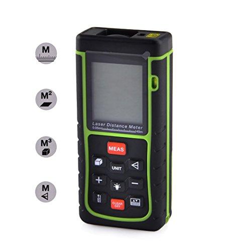 Signstek Mini Digital Laser - Distanzmesser Distanzmessgerät Entfernungsmessgerät Laser-Entfernungsmesser (40 m)