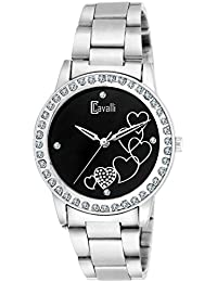 Cavalli Analogue Black Dial Women'S And Girl'S Love Watch-CW889
