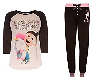 Love to Lounge Damen Schlafanzug Mehrfarbig Agnes Black Leggings