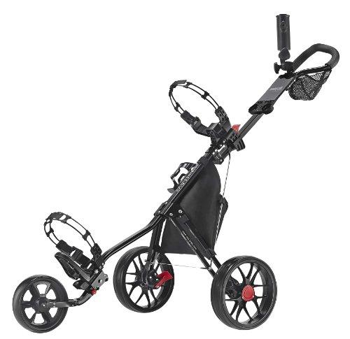 Caddytek 11.5 V3 3-rad Push Golftrolley Golfcaddy Golfwagen schwarz