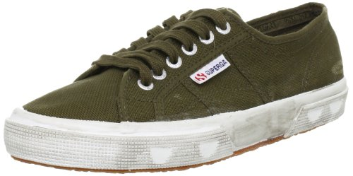Superga 2750 Cotu Stone Wash, Chaussons Sneaker Adulte Mixte Military Green