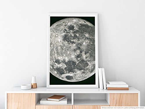 EAU ZONE Home Bild - Art Fotos – Großer Vollmond am 22. Juni 2013- Poster Fotodruck in höchster (Home Goth Decor)