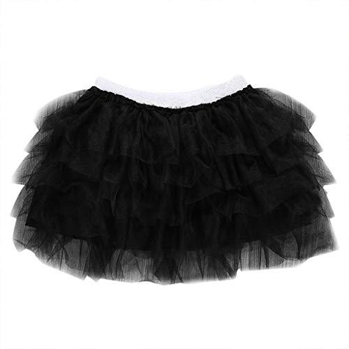 der Baby Tanz Feste elastische Tutu Rock Pettiskirt Ballett Kostüm Kinder Reine Farbe Tanz Tutu Kleid ()