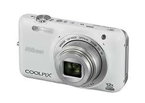 """Nikon Coolpix S6600 Appareil photo numérique compact 16,8 Mpix Ecran 2,7"""" Zoom optique 12x Blanc"""
