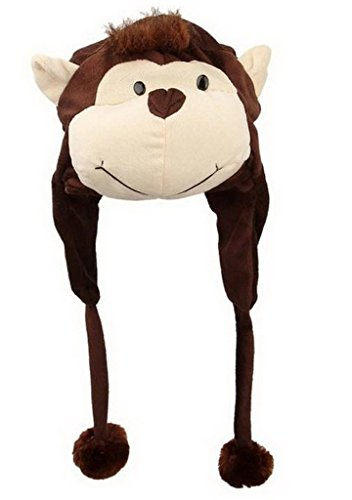 YiyiLai Liebe Plush Winter Cosplay Plush Hat Tier hat Plüsch Mütze One Size...