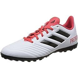 Adidas Predator Tango 18.4 Tf, Scarpe da Calcio Uomo, Nero Cblack/Ftwwht/Solred, 42 EU