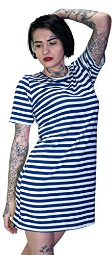 Striped Bodycon Mini (Navy Striped Printed Bodycon Mini Dress - Yareli)