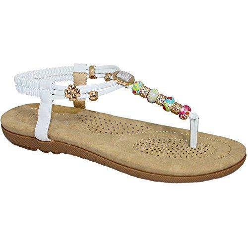 BOUTIQUE FANTASIA® JLH708 in legno di faggio, con tanga da donna con vivace, in comoda e alla moda White