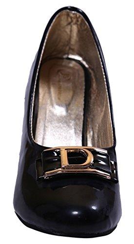 John Sparrow élégant hauts talons ventre sandale chaussures de sport des femmes - Choisir la taille Noir
