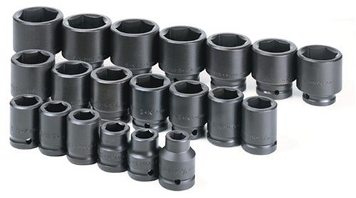 SK Hand Tools 84420 20-Piece 3/4-Inch Drive 6 Point Standard Fractional Impact Socket Set by SK Hand Tool -