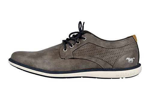 MUSTANG Shoes Halbschuhe in Übergrößen Grau 4111-302-20 große Herrenschuhe, Größe:49