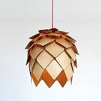 WYMBS Luce del pendente decorazione mobili In legno ha portato pino cono pendente (50cm)