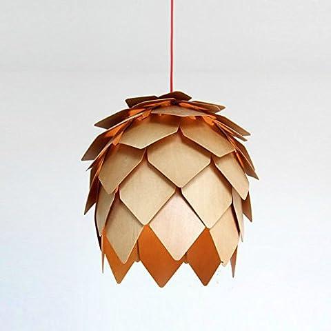 Caribou ceiling fixture/pendant Light ceiling Lamp Ceiling Light pendant Wooden led Pine Cone Pendant (50cm)