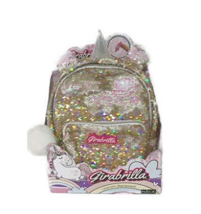 Nice- Zainetto Mini Backpack Girabrilla Unicorno-1 pz, Colore, 02530