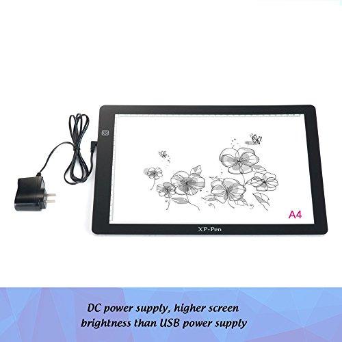 XP-Pen CP A4 Tablette Lumineuse Graphique LED pour Dessin Copier Décalquer avec Pince de Papier et Gant Artiste