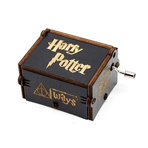Funmo - Puro Mano clásico Harry Potter Caja de música Caja de música de Madera a Mano artesanías de Madera Creativa Mejores Regalos