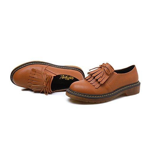 Damen Modische Slipper Beuqem Rundzehen Schleifee Atmungsaktiv Hohl Anti-Rutsche Blockabsatz Low-Top Schuhe Gelb
