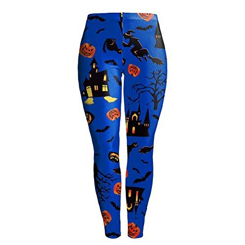 Damen Yoga Fitness Leggings Running Gym Workout Stretchy Sports Pilates Hose Trousers (Runnings Kostüme Halloween Cool)