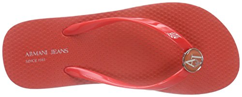 Armani Jeans C55f132, Sandales ouvertes femme Rouge - Rot (ROSSO - RED 4Q)