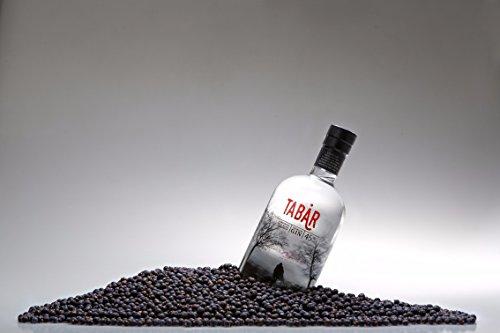 Premium Gin Tabar, l'originale della Bassa Modenese. Gin Distillato tra le nebbie dei fiumi Panaro e Secchia secondo una ricetta originale del 1814. 70cl, 45% Vol.