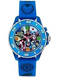 Reloj de Cuarzo para niños de Avengers con Pantalla analógica de Esfera Correa de Goma Azul AVG3506
