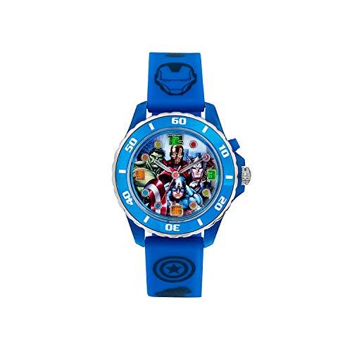 Reloj de Cuarzo para niños de Avengers con Pantalla analógica de Esfera Correa de Goma Azul AVG3506 11