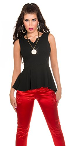 In-Stylefashion - Débardeur - Femme Rose Rose Noir - Noir