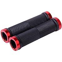 Generic - Puños para bicicleta de montaña negro/rojo