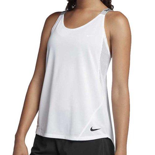 Nike Damen Dry Elastika Tanktop, White/(Black), M