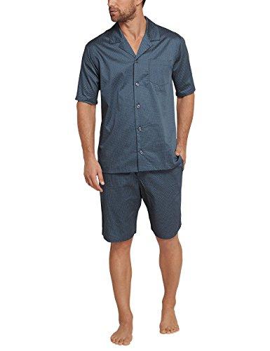 Schiesser Herren Zweiteiliger Schlafanzug Mix & Relax Pyjama Kurz Blau (Petrol 811)