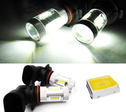 2 x Blanc 9005 HB3 9145 H10 ampoule LED Samsung veilleuses circulation diurnes DRL lampe de brouillard