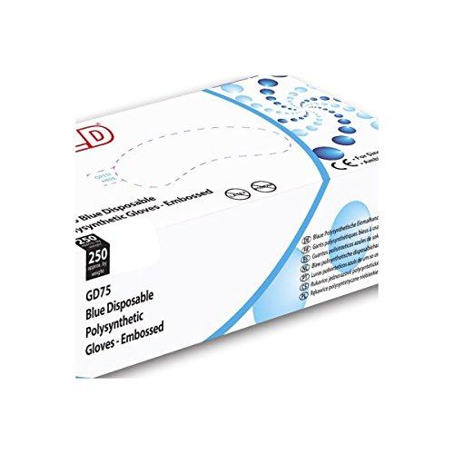 Guanti in polysynthétique Blu Shield–Cartone Di 10confezioni da 250–AQL–GD75_ 10