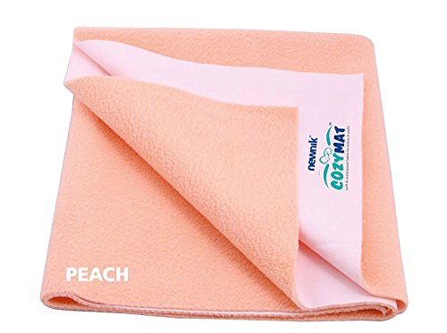 Cozymat Soft, Water-Proof & Reusable Mat (Size: 70cm X 50cm) Peach, S