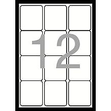 Esselte Dataline - Etiquetas (63,6 x 72 mm), color blanco