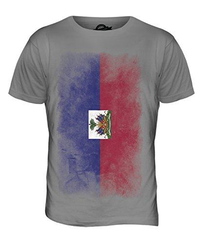 CandyMix Haiti Verblichen Flagge Herren T Shirt Hellgrau